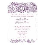 Stempelschneiden Sie lila Individuelle Einladung