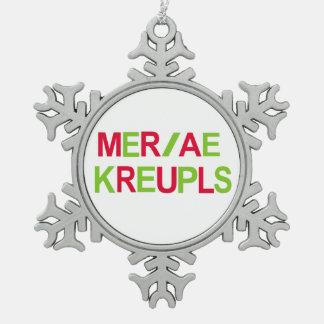Steno Gerichts-Berichts-Weihnachtsfeiertag Schneeflocken Zinn-Ornament