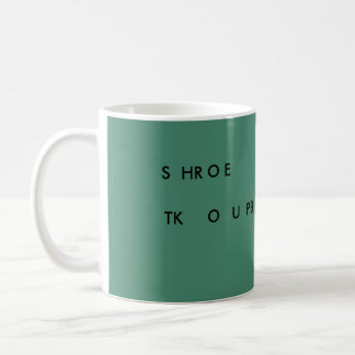 Steno VERLANGSAMUNG 11 Unze-Tasse (grünes) SHROE Kaffeetasse