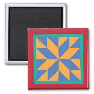 Steppdecken-Magnet - der Stern des Jägers Quadratischer Magnet