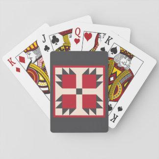 Steppdecken-Spielkarten - Bearcats-Block Spielkarten