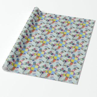 Steppdeckenmuster Einpackpapier