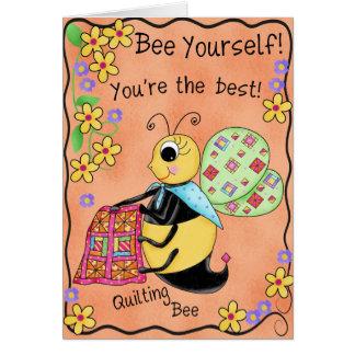 Steppende Bienen-launische Honig-Bienen-alles Gute Grußkarte