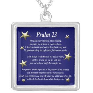 Stern-auserlesener Psalm 23 Versilberte Kette