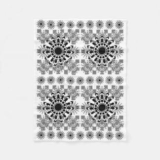 Stern-Blumen-Decke Fleecedecke