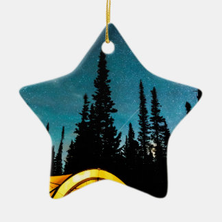 Stern-Camping Keramik Ornament