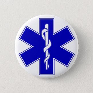 Stern des Leben-Mediziner-Buttons Runder Button 5,1 Cm