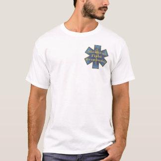 Stern des Lebens EMS medizinisches erstes T-Shirt
