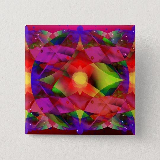 Stern des Wunders Quadratischer Button 5,1 Cm