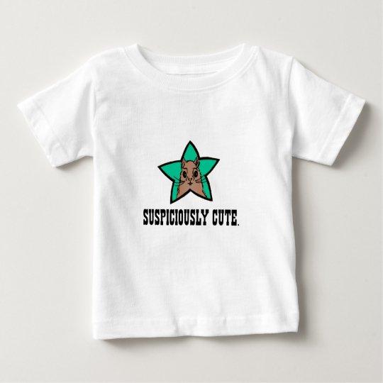 Stern-Eichhörnchen-Baby-T - Shirt   misstrauisch