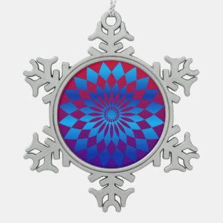 Stern-Entwurf Schneeflocken Zinn-Ornament