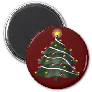 Stern-erstklassiger Weihnachtsbaum-Magnet Runder Magnet 5,7 Cm
