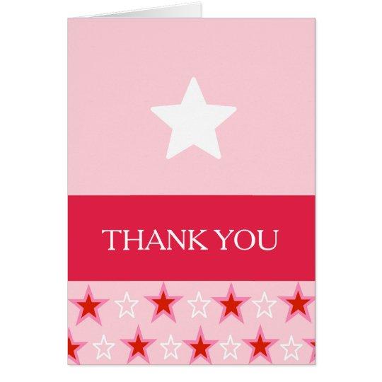 Stern-Geburtstags-Mädchen, danke Mitteilungskarte