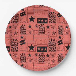 Stern-Geschenke Lineart Entwurf Pappteller 22,9 Cm