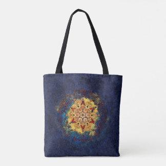 Stern-Glanz-Blau und Goldtasche Tasche