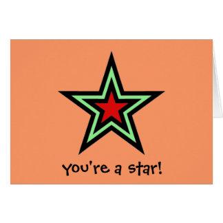 Stern Grußkarte