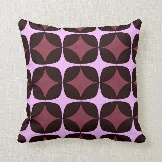 Stern-Kreis-Quadrat-Purpur-Dekor-Weiche Kissen
