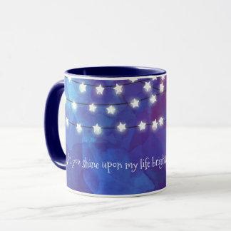 Stern-Lichter auf Kobalt-Blau Tasse