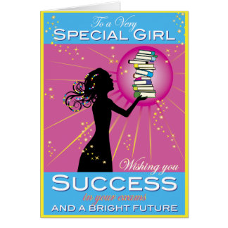 Stern-Mädchen-Erfolg Grußkarte