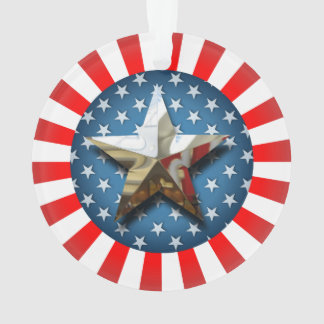 Stern-Spangled Art Ornament