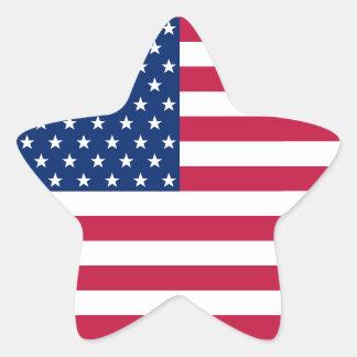 Stern-Streifen-Flaggen-Aufkleber USA