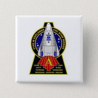 Stern-Sucher-Quadrat-Knopf - Auftrag-Alpha Quadratischer Button 5,1 Cm