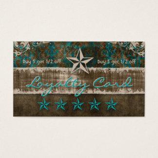 Stern-Veloursleder-Loyalitäts-Karten-aquamariner Visitenkarte