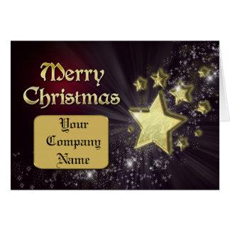 Stern-Weihnachtskarte für ein Geschäft Karte
