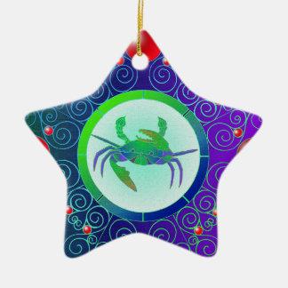 Stern-Zeichen-Verzierungs-Krebs Keramik Ornament