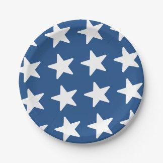Sternchen-Vereinbarung - patriotisches Blau Pappteller