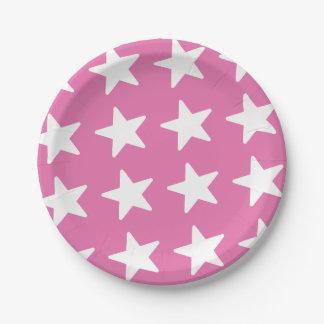 Sternchen-Vereinbarung - patriotisches Rosa Pappteller