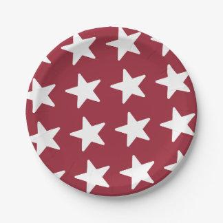 Sternchen-Vereinbarung - patriotisches Rot Pappteller