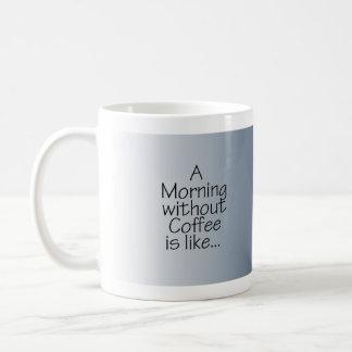 Sterne auf blauem Morgen ohne Kaffee Tasse