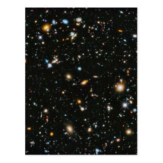 Sterne im Raum - Hubble ultra tiefes Feld Postkarte