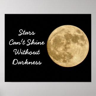 Sterne können nicht glänzen -- Kunst-Druck Poster