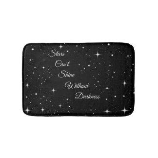 Sterne können nicht ohne Dunkelheit glänzen Badematte