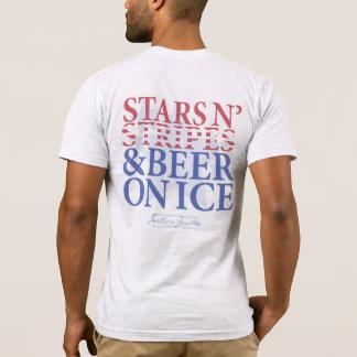 Sterne N Streifen u. Bier auf dem T-Stück der T-Shirt