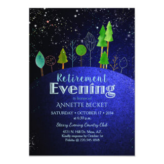 Sterne sagen… Starry Abends-Ruhestands-Party Karte