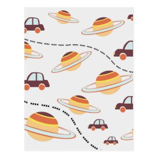 Sterne, Straßen und Autos Postkarte