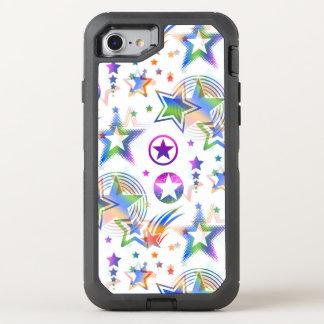Sterne tätowieren das nahtlose gefärbte Muster + OtterBox Defender iPhone 8/7 Hülle