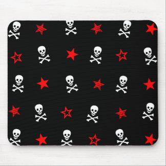 Sterne, Totenköpfe mit gekreuzter Knochen Mousepad