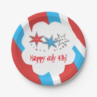 Sternenklare Blicke Juli 4. - ein patriotisches Pappteller
