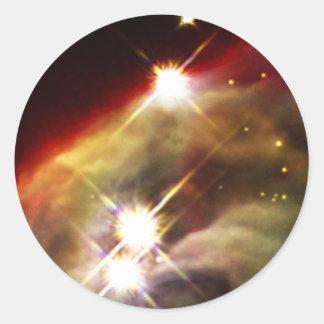 Sternenklare Nacht des Kegel-Nebelflecks Runder Aufkleber