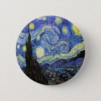 Sternenklare Nacht durch Vincent van Gogh 1889 Runder Button 5,7 Cm