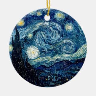 Sternenklare Nacht durch Vincent van Gogh Keramik Ornament