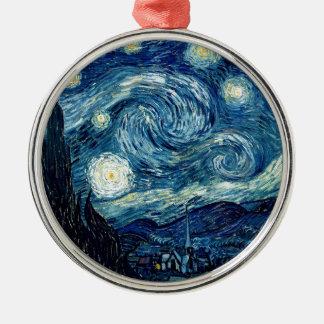 Sternenklare Nacht durch Vincent van Gogh Silbernes Ornament