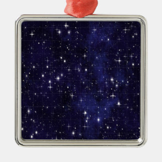 Sternenklare Nacht Silbernes Ornament