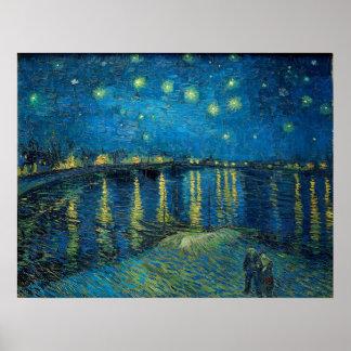 Sternenklare Nacht über der Rhône durch Vincent Poster