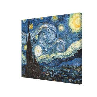 Sternenklare Nacht Van Gogh Galerie Gefaltete Leinwand