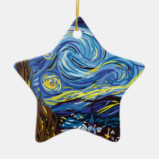 Sternenklare Nacht Van Gogh Keramik Ornament